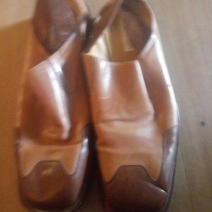Mezlan Handmade 2 Tone Brown Leather Shoes Mens 13